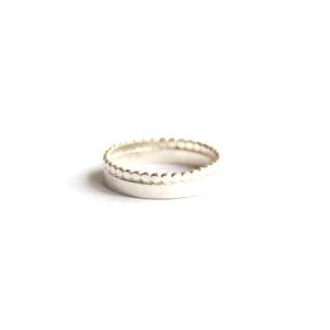 Zilveren Ring met Pareldraad - Zilverwerk Sieraden