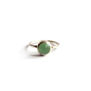 Zilveren Ring Aventurijn - Zilverwerk Sieraden