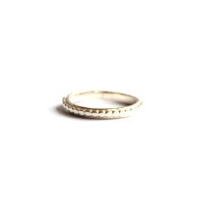 Zilveren Ring Dotted - Zilverwerk Sieraden