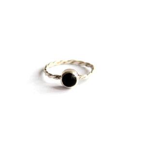 Zilveren Ring met Onyx Steen - Zilverwerk Sieraden