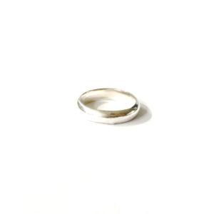 Zilveren Ring Halfrond