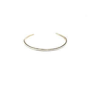 Zilveren Armband Pareldraad maat L