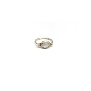 Zilveren Ring met Maansteen maat 16.5