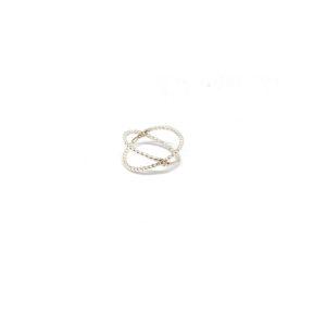 Zilveren X ring maat 17