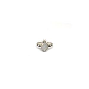 Zilveren Ring Maansteen maat 18