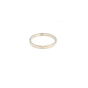 Zilveren Ring Hamerslag maat: 16, 17, 18, 19