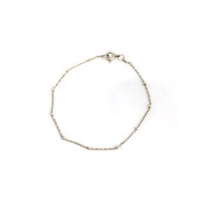 Zilveren Armbandje Bamboe