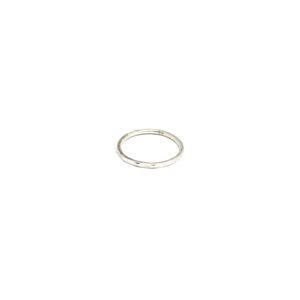 Zilveren Ring met Vlakjes maat 16, 17, 18, 19