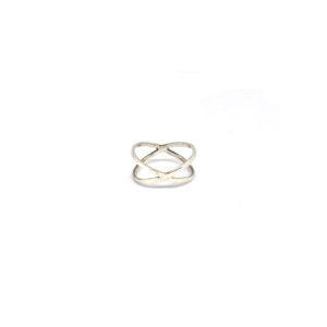 Zilveren X Ring maat 16, 17, 18, 19