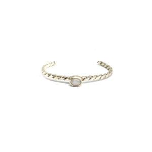 Zilveren Armband Maansteen maat: M
