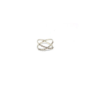 Zilveren X ring maat 18,5