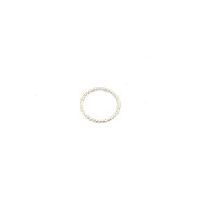 Zilveren Ring Twist maat 15, 16, 17, 18, 19