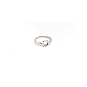Zilveren Ring met Cirkel maat 15.5, 16, 17, 18, 19